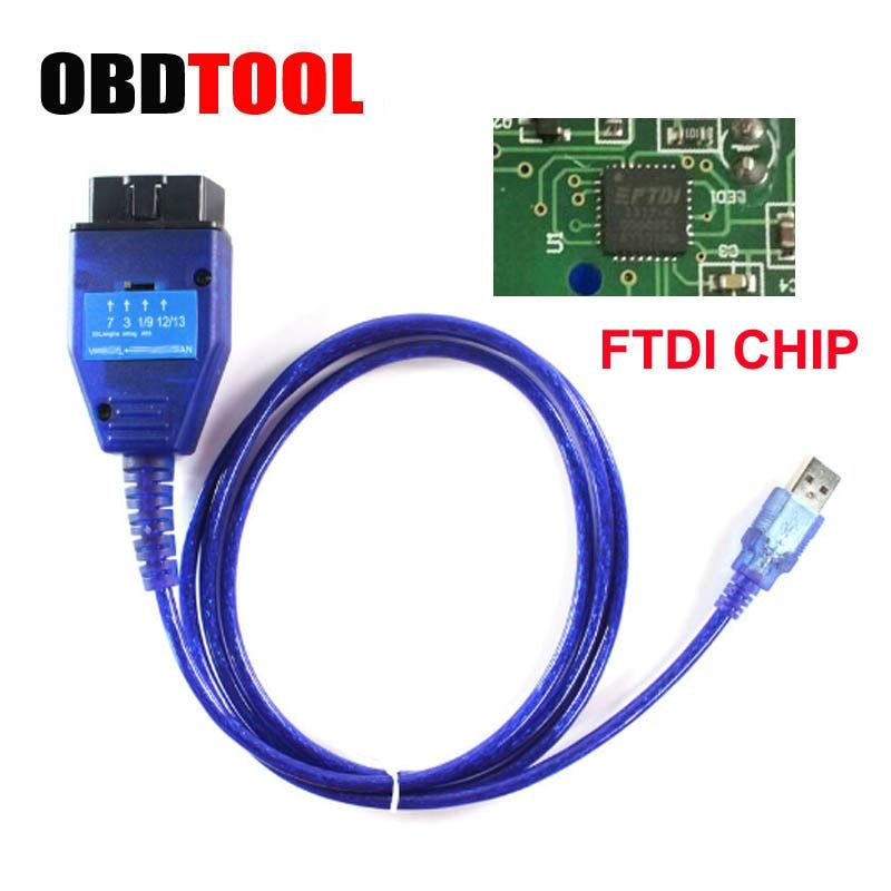 With FTDI Chip OBD2 USB Diagnostic Cable for <font><b>Fiat</b></font> VAG Ecu Scan Tool Read Clear Engine ABS AirBag ESP Fault Auto OBD Connector