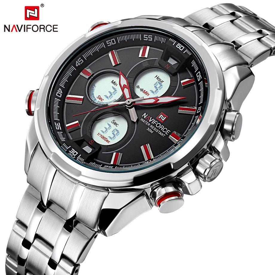 NAVIFORCE Mens Watch 2017 Hot Selling Full Steel Men Quartz Watches Fashion Casual Back Light Male Clock Saat Relogio Masculino