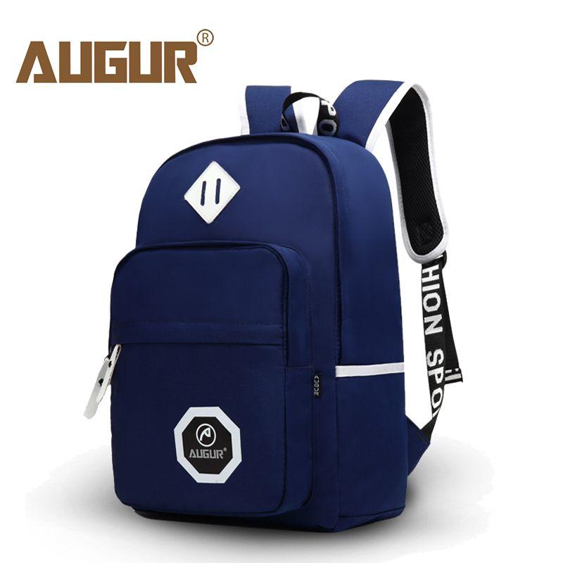 AUGUR 2017 Brand Design Men's Backpacks Oxford Bags Waterproof Travel Teenager School Bag 14inch Computer Packsack Wholesale