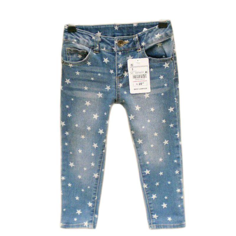 2017 популярные джинсы для девочек с принтом бабочки мягкий деним Брюки для девочек для штаны для девочек Дети Костюмы детские осенние штаны ...