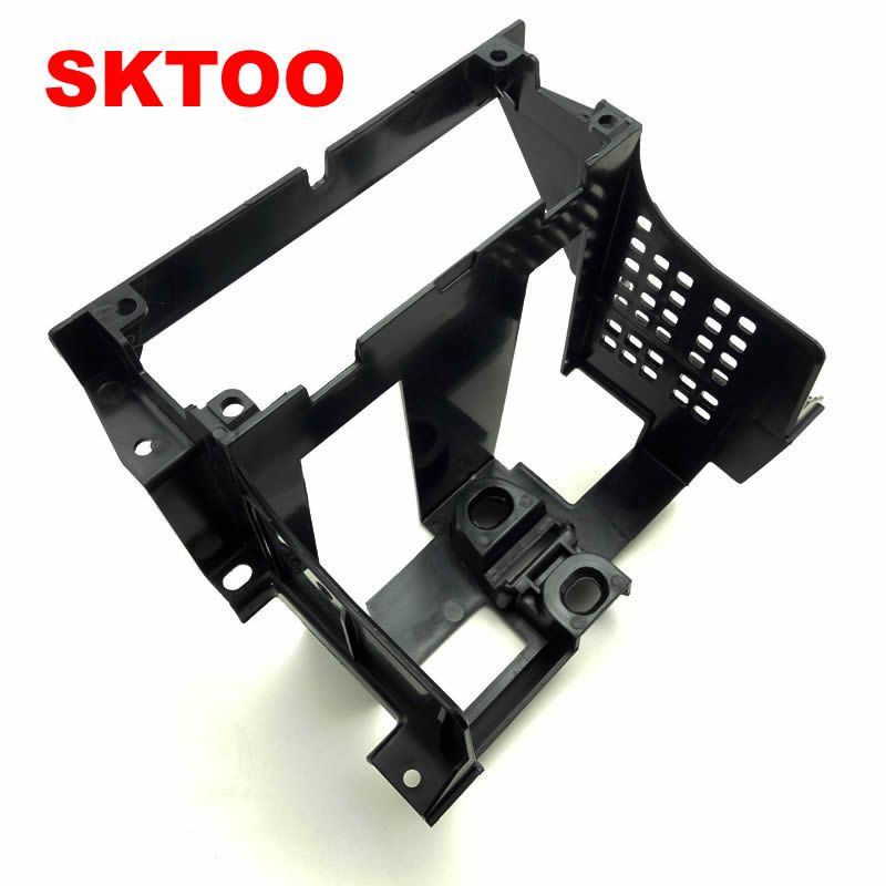 SKTOO For 2001-2005 VW Passat B5 Box Instrument Central CD Box Radio Trim Panel Radio Frame Mounting Bracket CD Frame Bracket