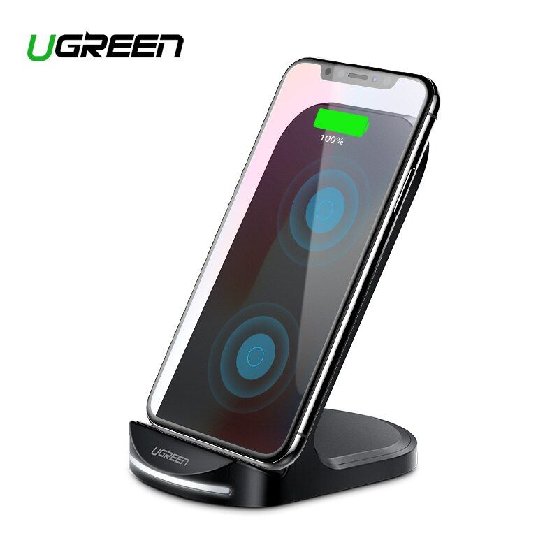 Ugreen Qi Wireless Charger for iPhone X XS XR 8 Samsung S9 S8 10W Fast Wireless Charging Dock Station for Xiaomi Phone Charger