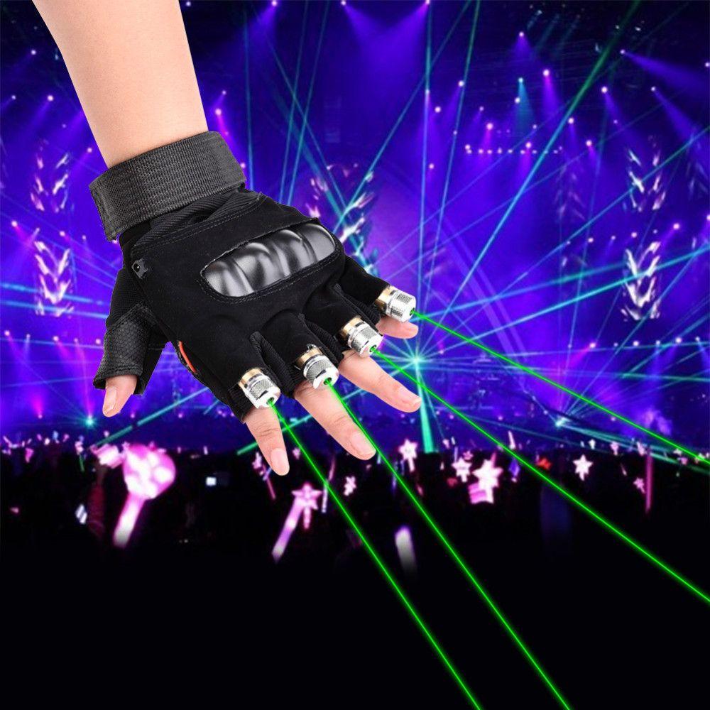 1 шт. красный зеленый лазер Прихватки для мангала Танцы шоу на сцене этап Прихватки для мангала свет с 4 шт. Лазеры и светодиодный palm свет для ...