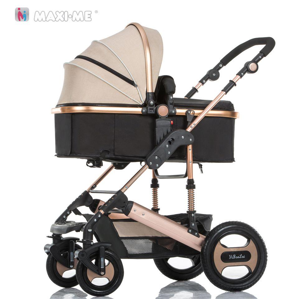 Steel 4 Wheels Baby Stroller 3 2 in 1 High Views Pram Travel System Foldable Carriage Carrinho-de-bebe 3 2 em 1 Cochecito