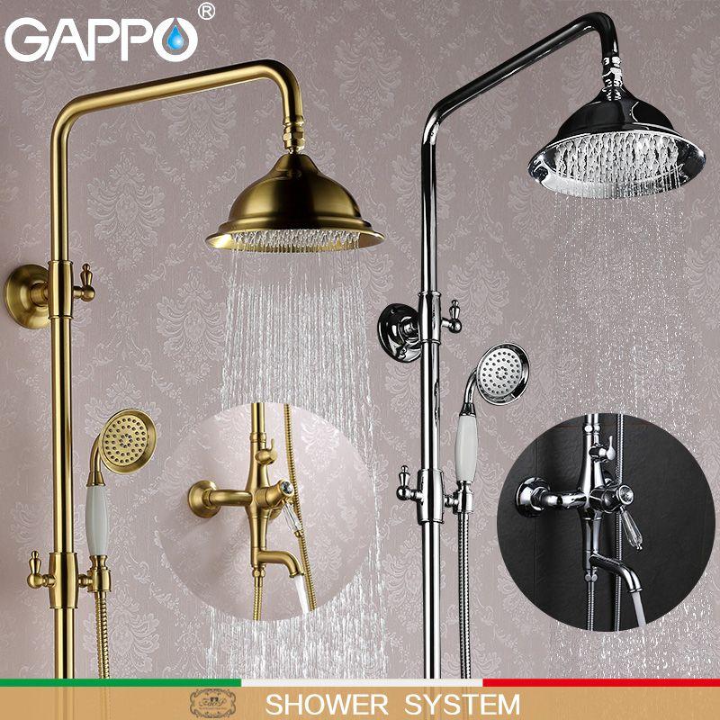 GAPPO Bathtub Faucets Shower Faucets rainfall bath faucets bathroom faucet mixers bath tub mixer torneira do chuveiro