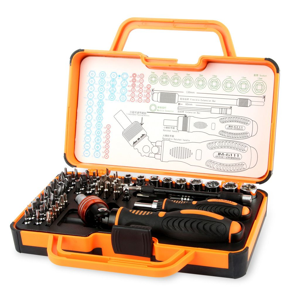 JAKEMY JM-6111 69 in1 Multi Function Hand Tools Repair Kit Screwdriver Set for repair iPhone iPad Household Hand Tools Set