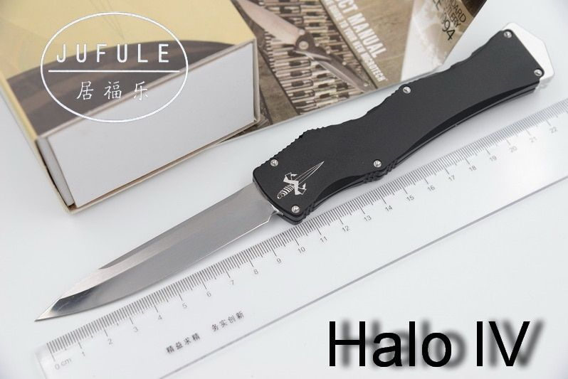 JUFULE Halo Iv 4 V 5 Combat Troodon D2 blade aluminum handle camping hunting survival outdoor EDC hand tool set kitchen knife