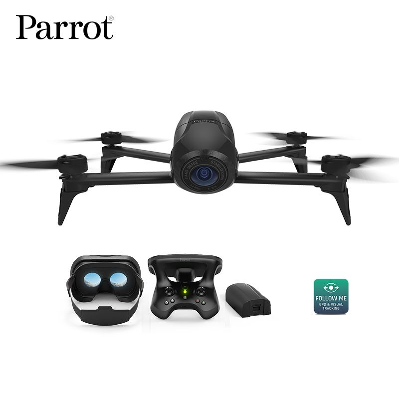Drone 4K Parrot Bebop 2 Power FPV Drones with Camera HD Quadrupter 4K Up to 25 Minutes of Flight time, FPV goggles Quadcopter