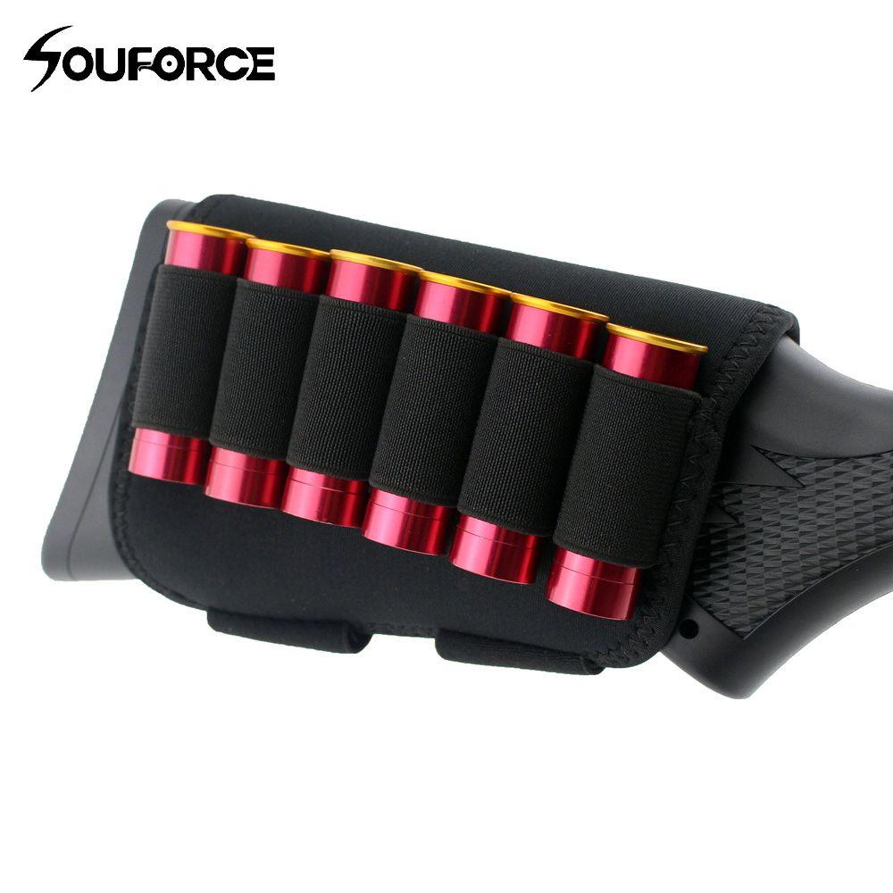Taktische Hinterschaft Wange Tasche Rest mit 6 Shots 12 20 Gauge Schrotflinte Shell Halter
