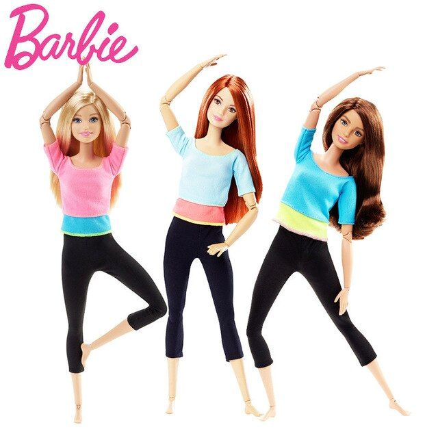 Original Barbie Doll Movement Style Joints Movable Yoga Fashion Barbie Girl 2018 Gift The Girl A Birthday Present Girl Boneca