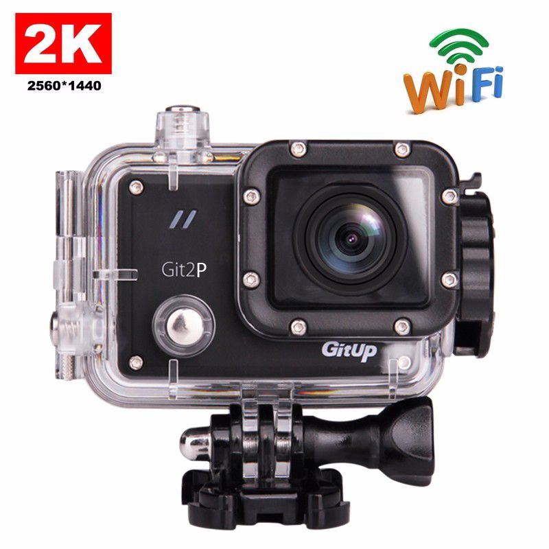 Original GitUP Git2P Pro Packing G-Sensor Full HD 2K 1080p 60fps For Panasonic MN34120 16MP Sensor Wifi Sports Action Camera