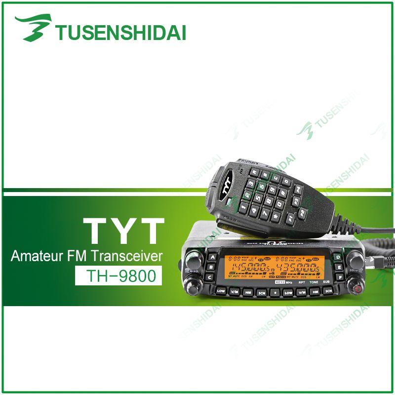 Factory Authorized TYT TH-9800 Plus Free Shipping 50W Scrambler VHF UHF HF Transceiver with Programming Cable and Software