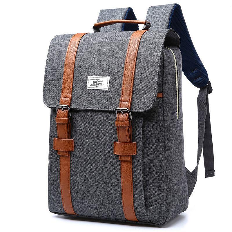 2018 Vintage Men Women Canvas <font><b>Backpacks</b></font> School Bags for Teenagers Boys Girls Large Capacity Laptop <font><b>Backpack</b></font> Fashion Men <font><b>Backpack</b></font>