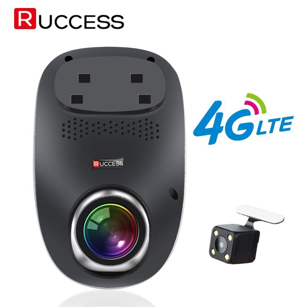 RUCCESS R40S 4G Dash Cam Car DVR Wifi GPS Camera Remote Monitor ADAS Smart Android 5.1 Dual Lens 1080P Nigth Vision Dashcam DVRs