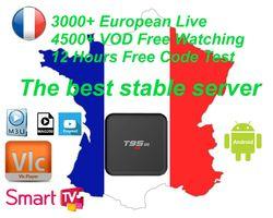 T95M 3/6/12 Mois 1800 + Live TV IPTV M3U ENIGAM2 Andriod IPTV ITALIE Allemand Français Espagne TR ROYAUME-UNI Italie MEDIASET PREMIUM Pour TV BOÎTE