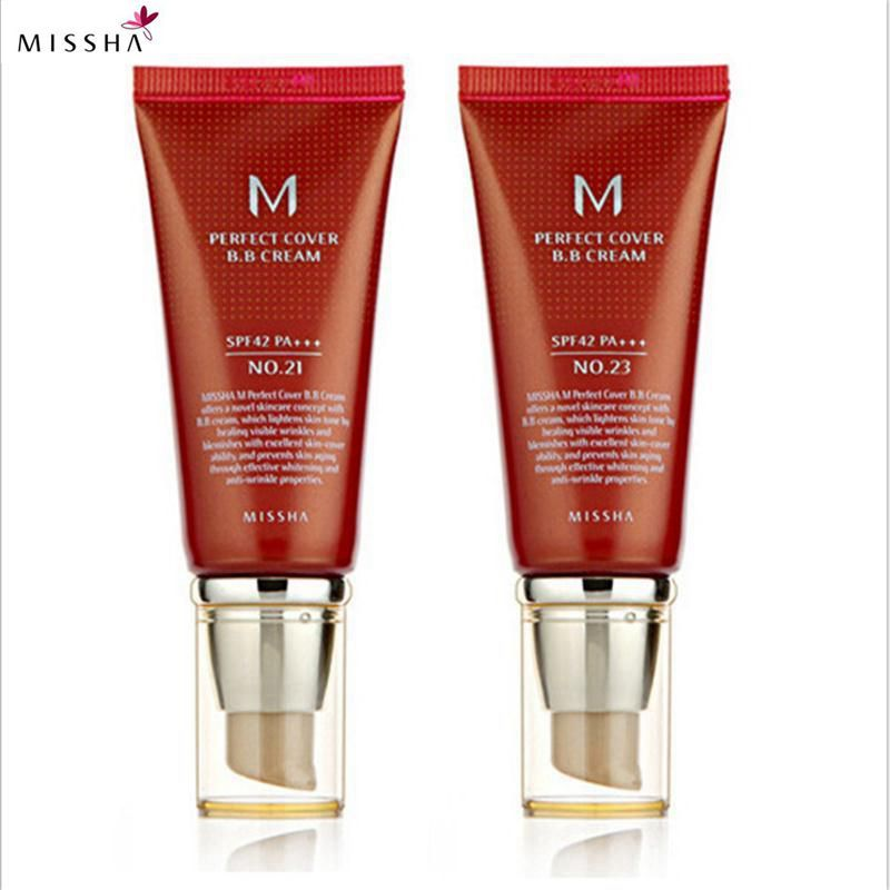 Missha M <font><b>Perfect</b></font> Cover BB Cream #21 Or #23 SPF42 Pa+++ 50Ml Korea Cosmetics Makeup Base CC Creams Whitening Original Package