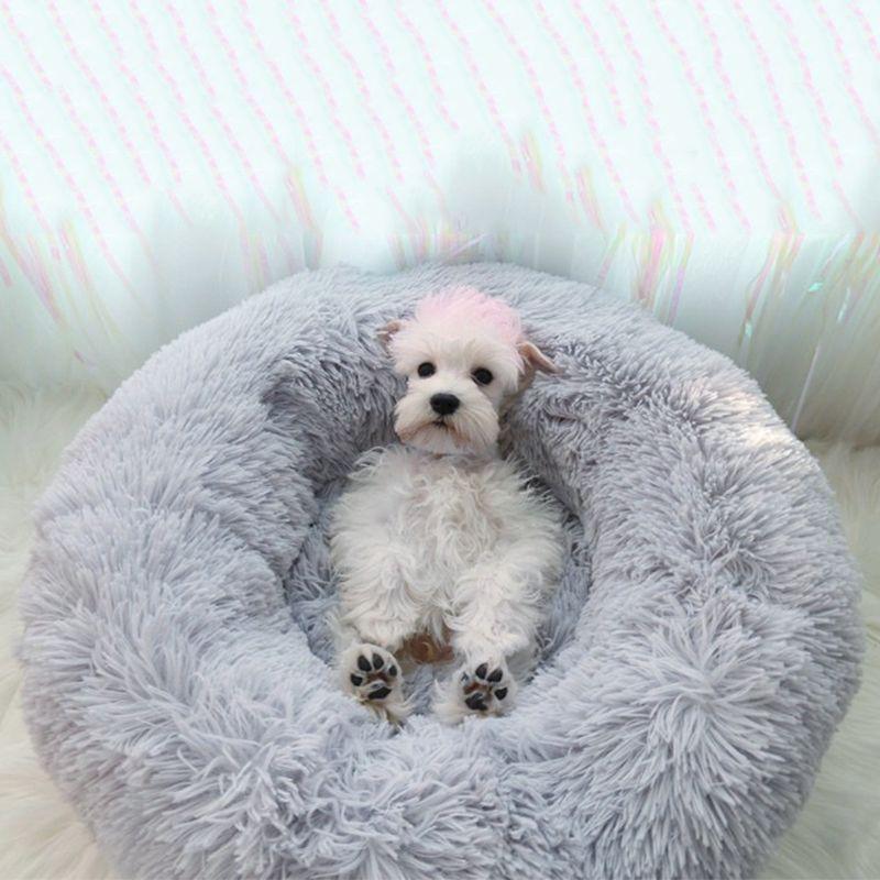 2019 animaux de compagnie sommeil profond lits chiot Chihuahua vers le bas Pile tapis bouledogue français Yorkie canapé mode chaud Pet chien chat lit pour petits chiens