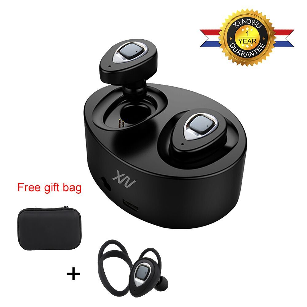 Sago mini Earphones k5 Wireless Bluetooth Headset k2 Twins Stereo Built-In Mic and Charging Box Ear Hook for xiaomi huawei phone