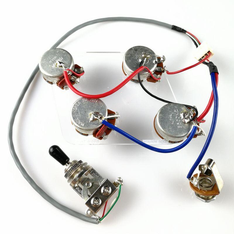 1 Set LP Guitare Électrique Ramassage Câblage Harnais Pour EPI SG LP Dot (1 Interrupteur À Bascule + 4 Pots + Jack)