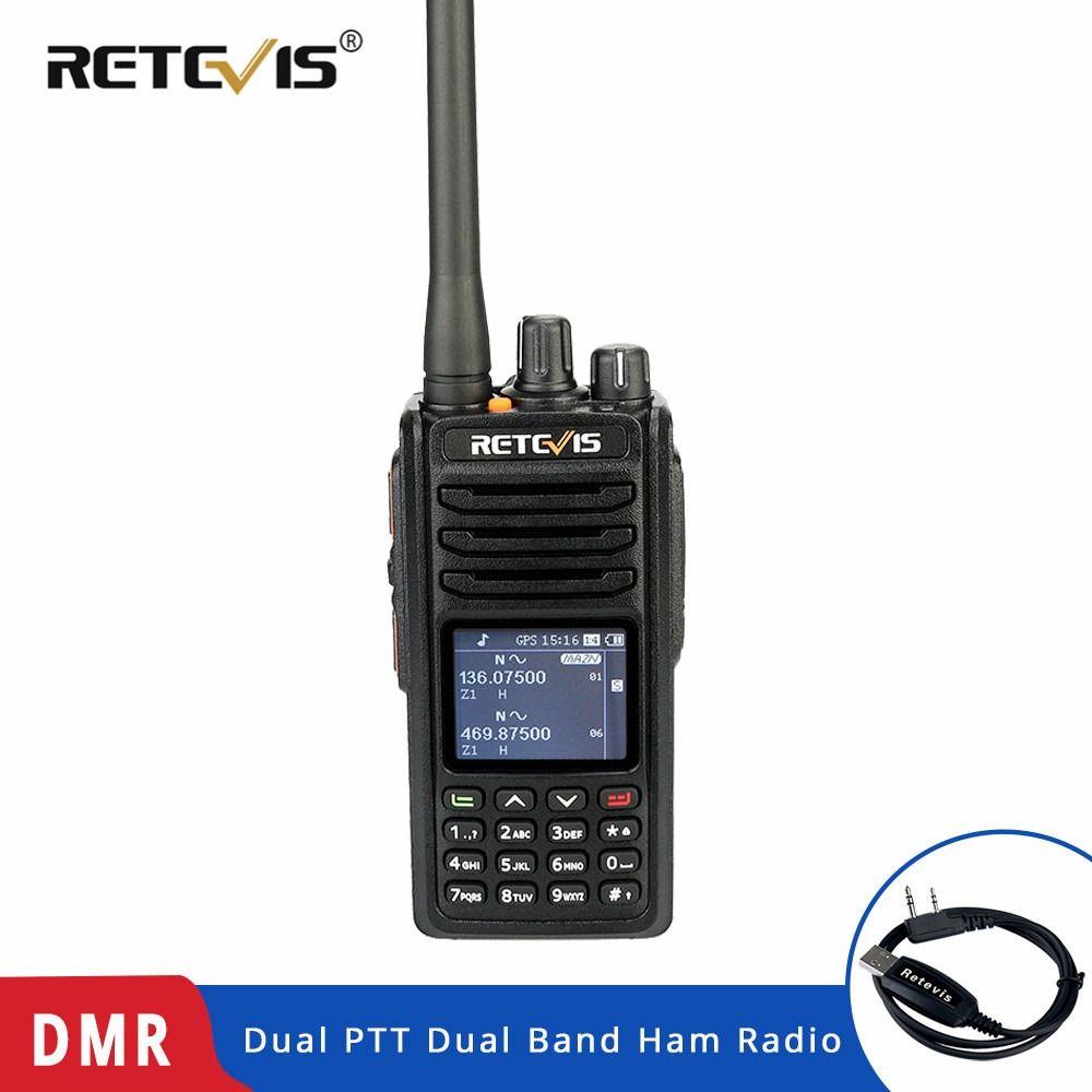 RETEVIS RT52 DMR Radio Digitale Walkie Talkie Dual PTT Dual Band DMR VHF UHF GPS Zwei Weg Radio Verschlüsselt Schinken amateur Radio + Kabel