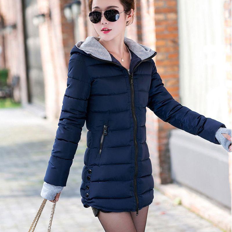 <font><b>Drop</b></font> Shipping 4XL Plus Size Wadded Clothing Female 2018 New Women's Winter Jacket Cotton Jacket Slim Hooded Parkas Ladies Coats