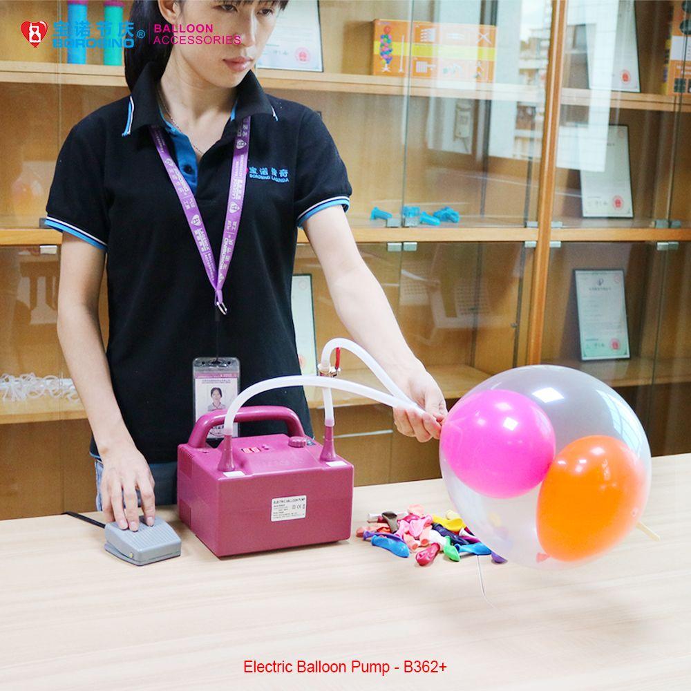 Borosino De Mariage Décoration Haute Puissance Pédale Minuterie Électrique Ballon Gonfleur B362 +