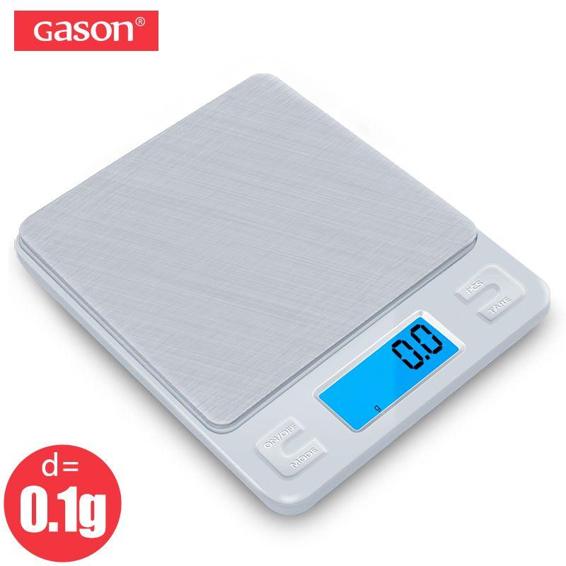 GASON Z1 Digital Kitchen Scale Mini Pocket Stainless Steel Precision Jewelry Electronic <font><b>Balance</b></font> Weight Gold Grams 3000gx0.1g