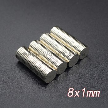 10 pcs Néodyme Disque Aimants 8x1mm N35 Super Strong Puissant Rare Earth 8mm x 1mm petit Rond Aimant