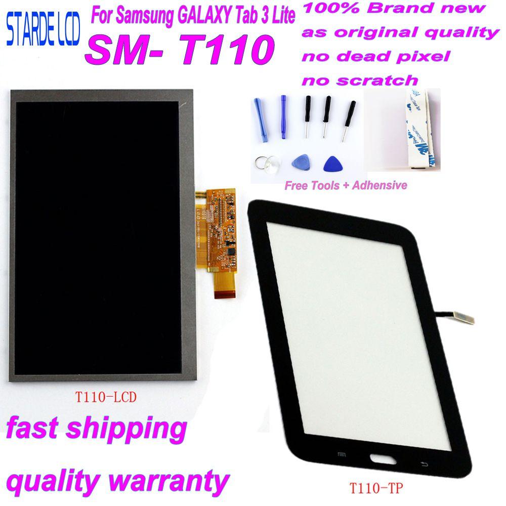 STARDE remplacement LCD pour Samsung Galaxy Tab 3 Lite 7 pouces T110 SM-T110 Wifi Version LCD écran tactile numériseur sens