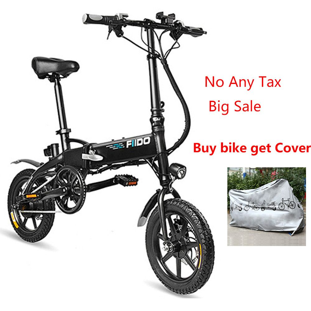Fast Delivery FIIDO D2 Electric Bicycle Smart Folding Electric Bike Moped Cycling Bicycle 7.8Ah Battery With Double Disc Brakes
