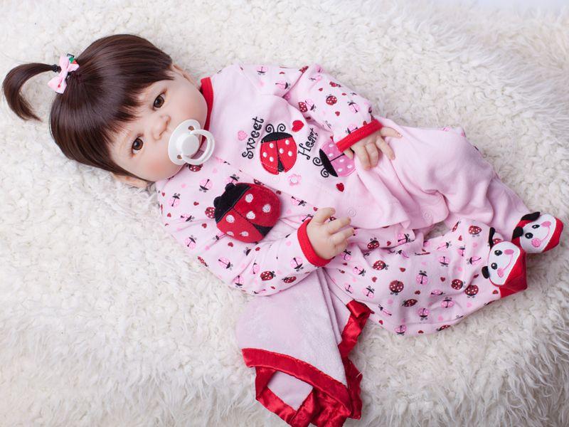 55cm Full Body Silicone Reborn Baby Doll Toy Baby-Reborn Babies Dolls Lifelike Child Birthday Christmas Gift Bathe Toy