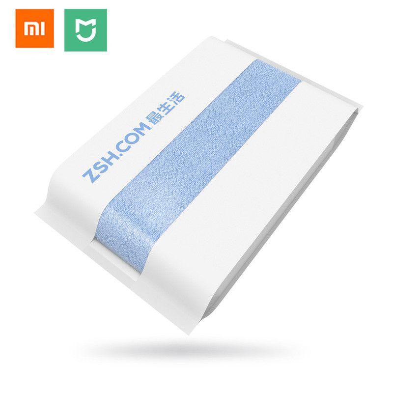 Original Xiaomi mijia ZSH Bath Towel Cotton Xiaomi Beach Towel Washcloth Washcloth Antibacterial Water Absorption 27.5x55 inch