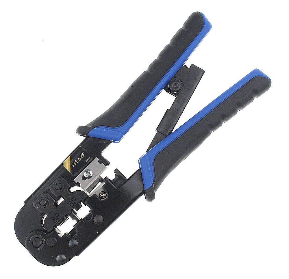 High Quality Modular Telecom Crimping Pliers Tool Network Cable Ratchet Crimping Pliers for 4P 6P 8P RJ-11/RJ-12 RJ-45