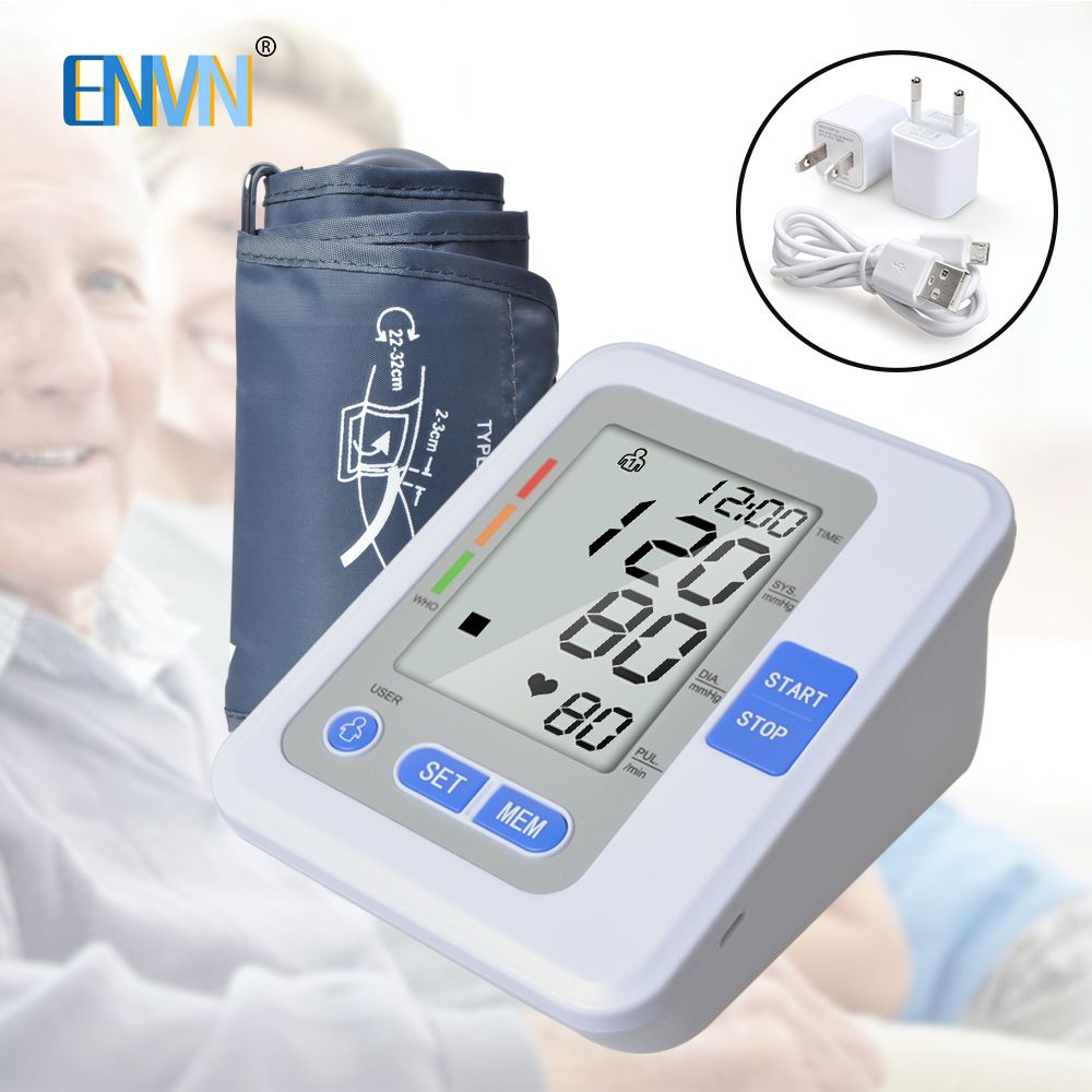 NEW Portable Blood pressure meter Digital Blood Pressure Monitor Upper Arm Tonometer Sphygmomanometer Tensiometro with Voice