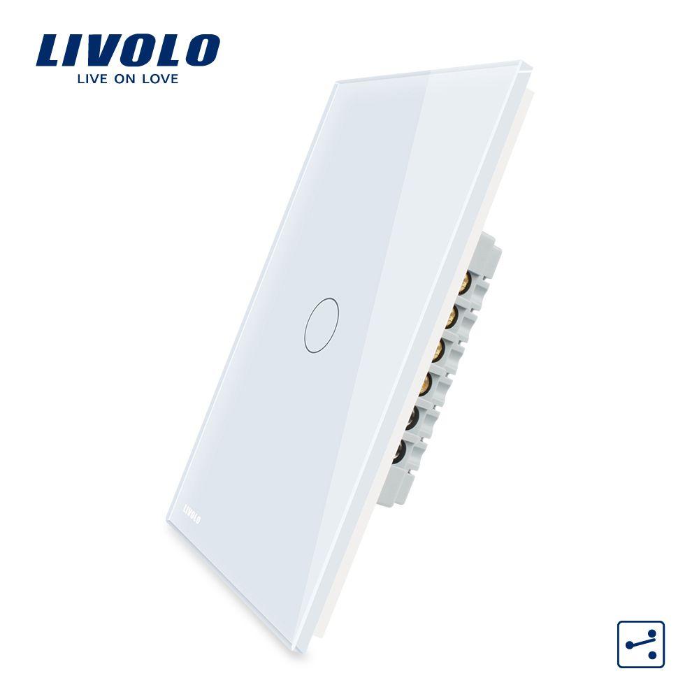 Livolo Manufacturer,US Standard, Touch Screen Wall Light Switch, 1Gang 2 Way VL-C501S-11/12