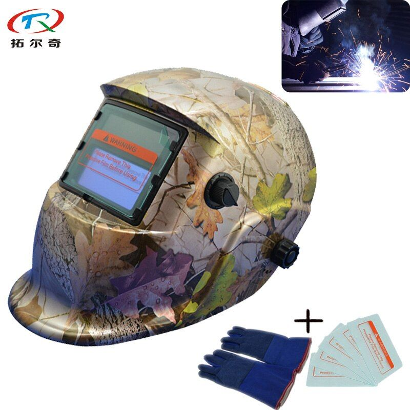 Fast Shipping Solder Mig Welding Mask with Maple Leaf Picture Auto Darkening Welder Helmet Full Face Protection TRQ-HD04-2233FF
