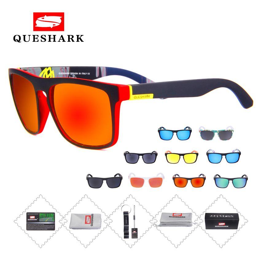 Queshark hommes lunettes de soleil polarisées vélo vtt route vélo lunettes Sport conduite pêche lunettes cyclisme lunettes femmes