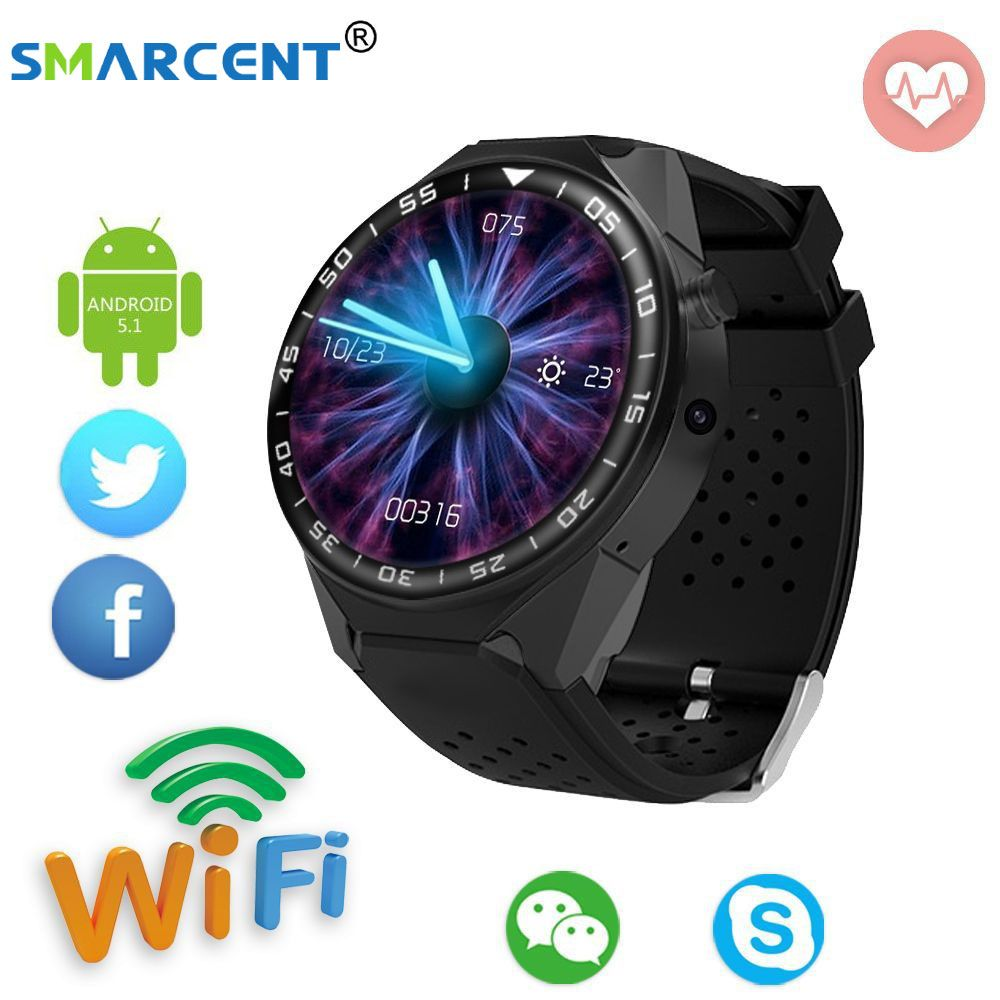 Smarcent HD 1.39 OGS touch screen 3G Andriod OS 5.1 GPS Smart Watch RAM2G ROM16G SIM Card Bluetooth MTK6580 Smartwatches S99C