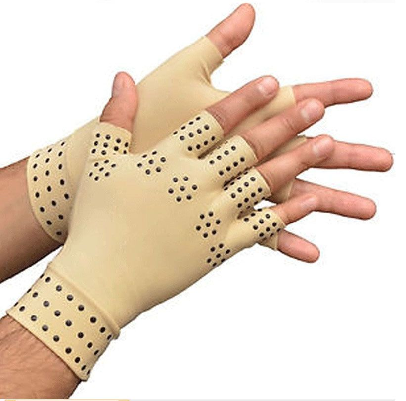 Arthritis therapy gloves 1Pair Relief Arthritis Pressure Pain Heal Joints Magnetic Therapy Gloves support Hand Massager