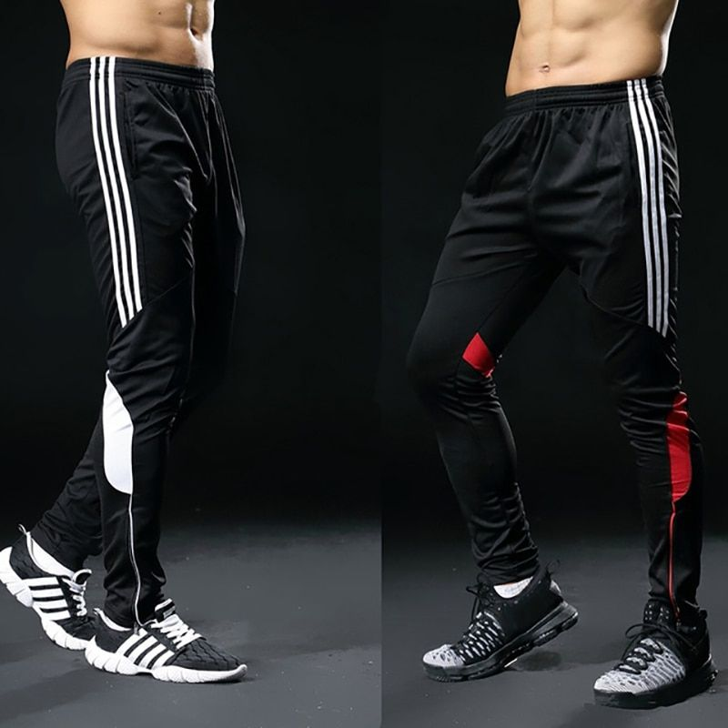 2019 Hot Sale Sports Pants For Men Fitness Gym Football Leggings Thin Running Soccer <font><b>Training</b></font> Long Pants Futbol Trouser White