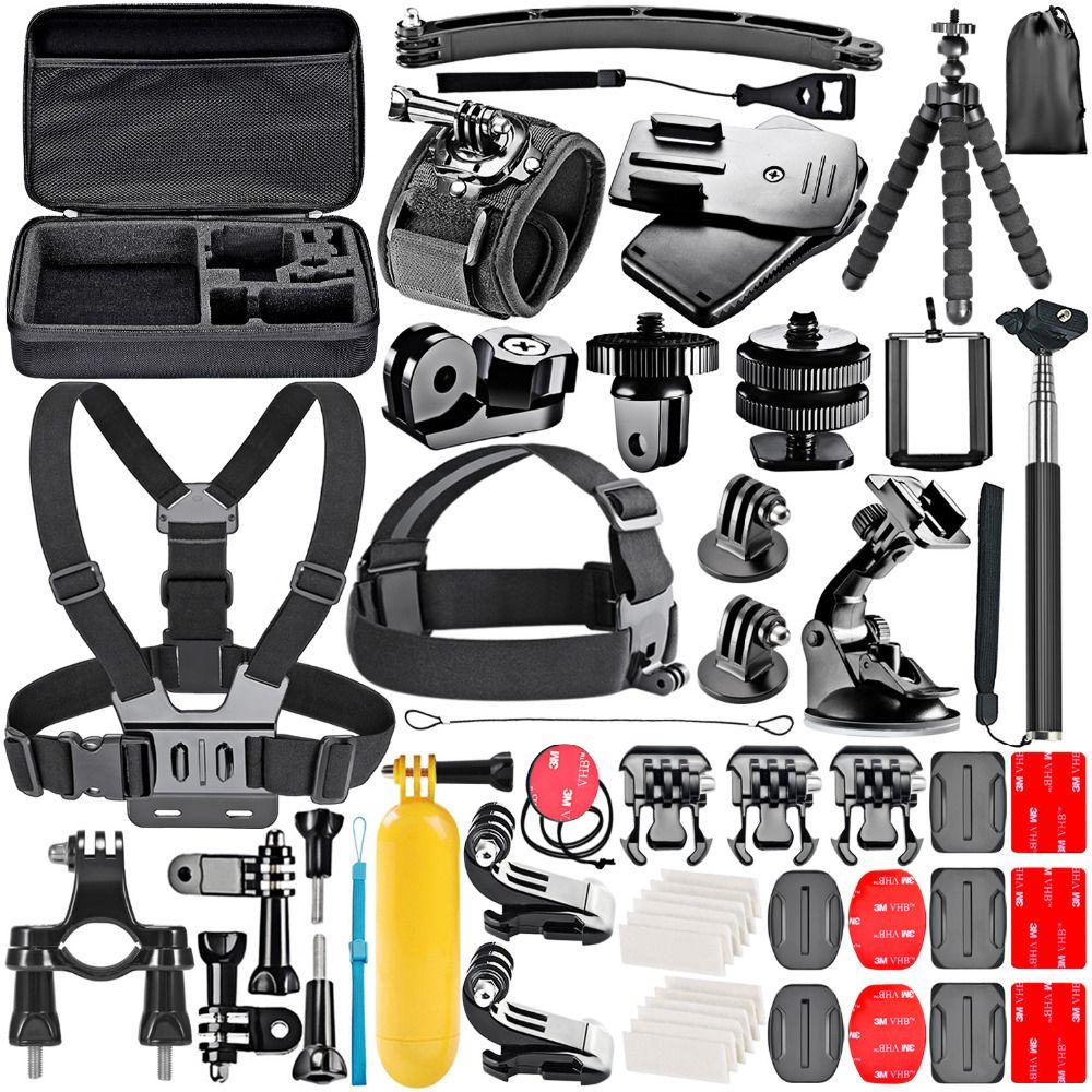 Kit accessoire caméra d'action Neewer pour caméra sport: Sjcam DBPOWER AKASO APEMAN WiMiUS QUMOX Lightdow Campark