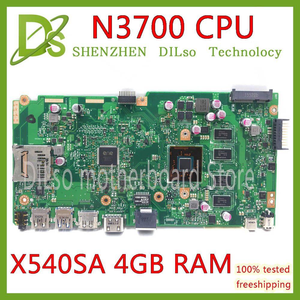 KEFU X540SA REV2.1 adapté pour ASUS X540SA N3700 CPU carte mère d'ordinateur portable avec 4GB test de mémoire carte mère travail 100% payer-16 $ de réduction