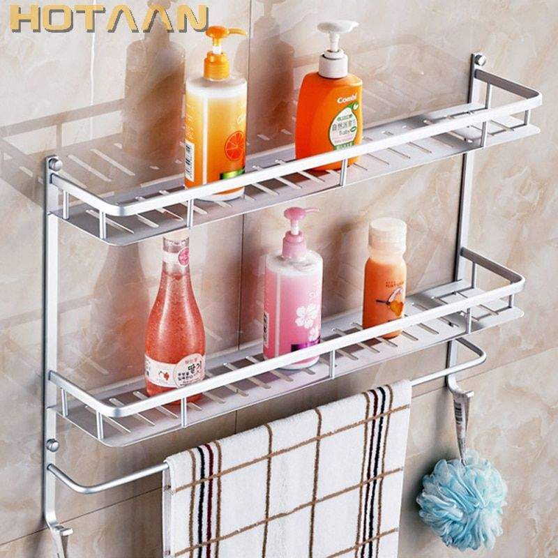 Free shipping,Newest fashion design ! bathroom accessories,multi-functional shelf ,aluminum,towel shelf,towel holder,towel rack