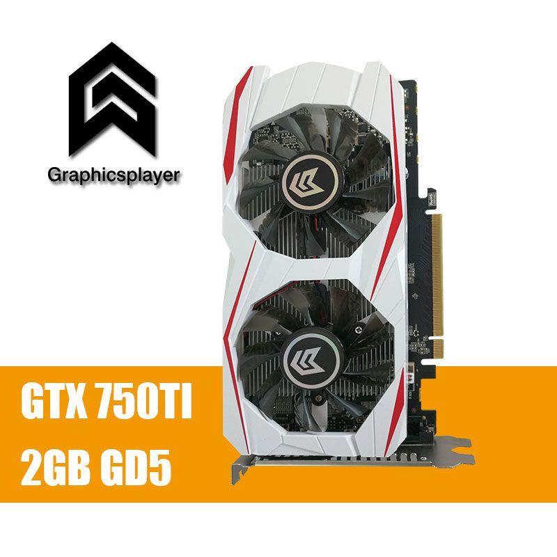 Original Grafikkarte GTX 750TI 2048 MB/2 GB 128bit GDDR5 Placa de Video carte graphique Grafikkarte für NVIDIA Geforce PC VGA