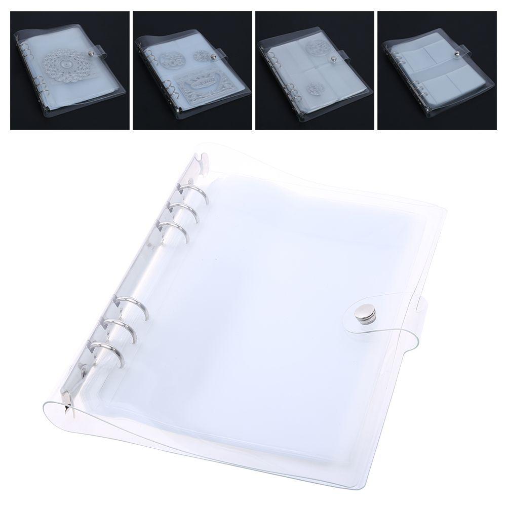 10 Sheets DIY Scrapbooking Stanzformen Fall Sammlungen Lagerung Buch Album für Schneidwerkzeuge Metall Schablone Halter Lagerung