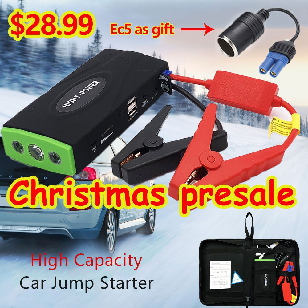 High Power Multi-Function Car Jumper Starter Emergency 12V Car Charger For Battery Booster Buster Auto starting device LED New