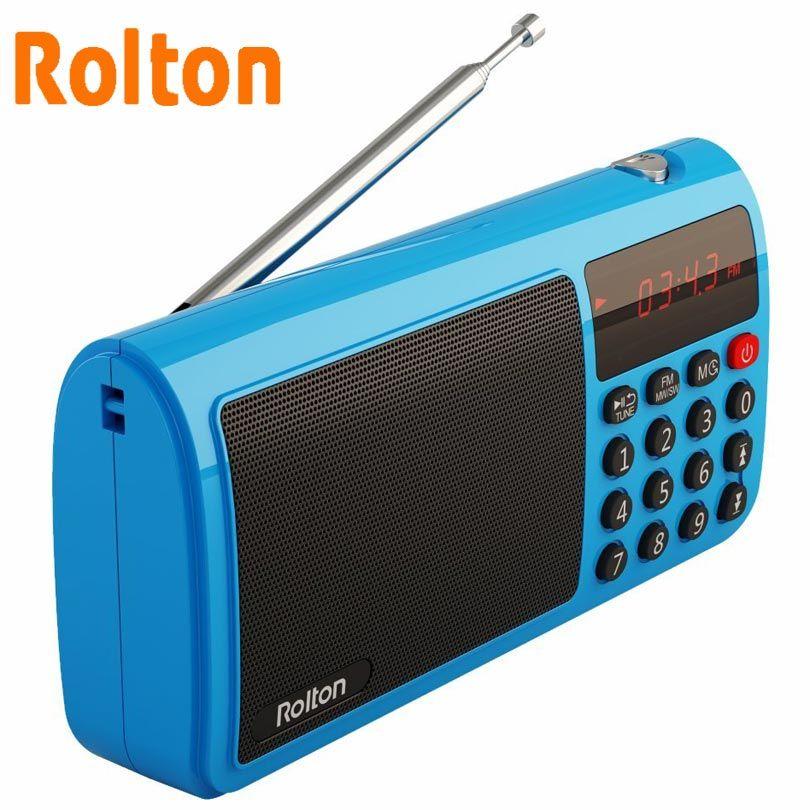 Rolton T50 TF carte haut-parleur Portable monde bande Radio Mp3 lecteur de musique WAV jouer haut-parleur et lampe de poche pour PC iPod colonne