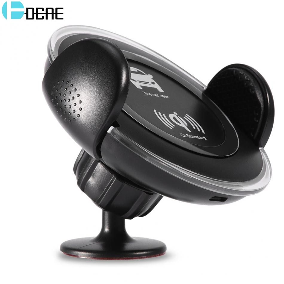 DCAE QI Wireless Car Charger Car Air Mount Holder for iPhone X 8 Plus Fast Wireless Charging Pad for Samsung Galaxy S9 S8 Note 8