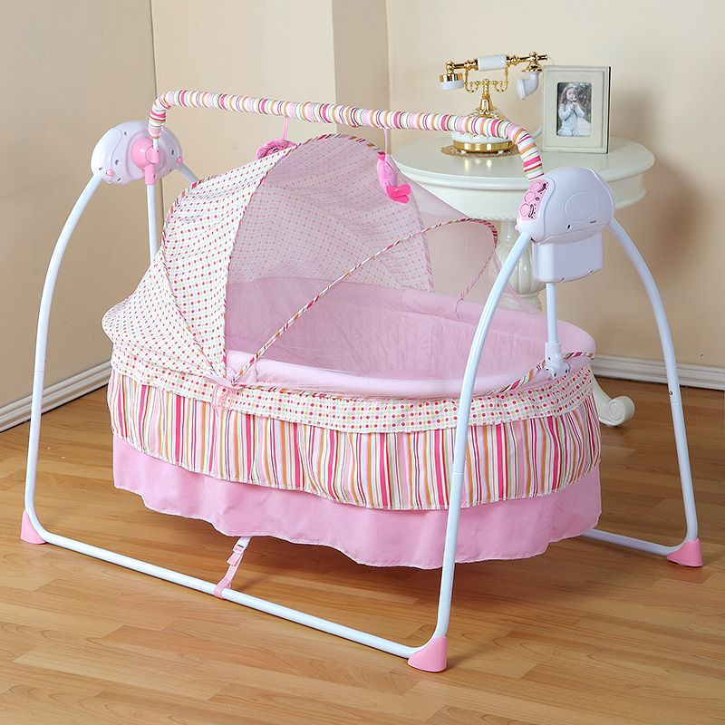 Fashion Electric Baby Crib/Baby Cradle , Electric Baby Rocker, Baby Swing Bed, Big Sp100*55cm