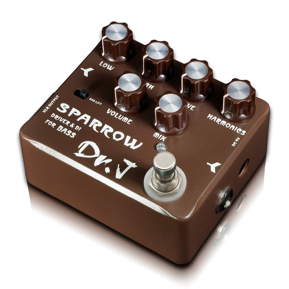 Dr. J Sparrow Driver & DI Effect Pedal for Bass Hand Made Electric Bass Overdrive Pedal efeito True Bypass D53 D-53
